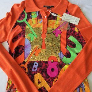 Anthropologie Picasso Inspired Sequin Sweater-L